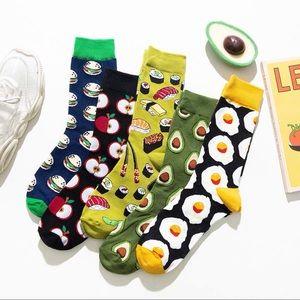 NEW Instagram hot socks avocado apple hamburger